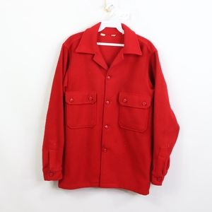 50s Woolrich Mens 38 Double Pocket Shirt Jacket